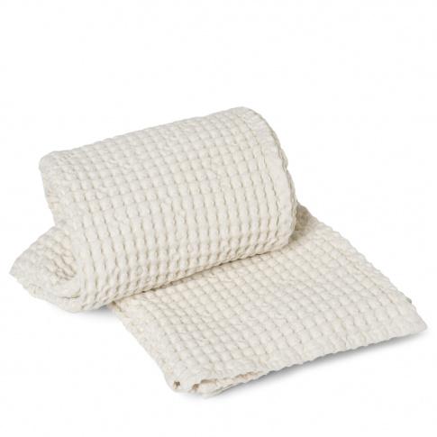 Fotografia, na której jest Ręcznik kąpielowy ferm LIVING | Off-White