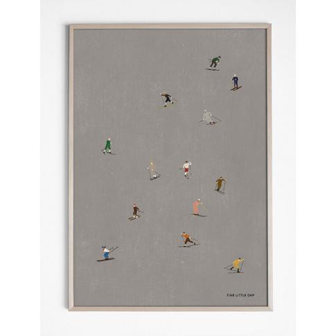 Fotografia, na której jest Plakat SKIERS - Fine Little Day