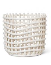 Kosz ceramiczny - ferm LIVING | off-white