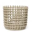 Fotografia, na której jest Kosz ceramiczny - ferm LIVING | cashmere