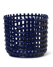Kosz ceramiczny - ferm LIVING | blue