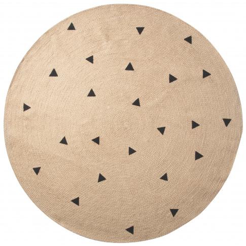 Fotografia, na której jest Dywan jutowy Triangles - ferm LIVING