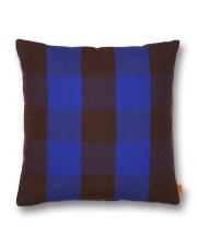 Poduszka Grand - brązowy | niebieski - ferm LIVING