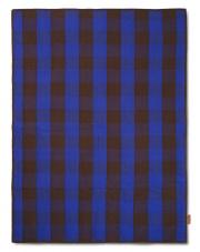 Koc piknikowy Grand - brązowy | niebieski - ferm LIVING