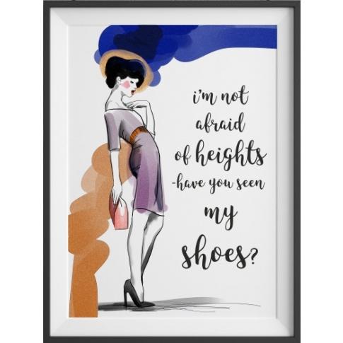Fotografia, na której jest Plakat Have you seen my shoes? - kreska