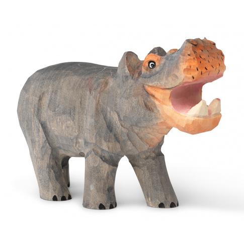 Fotografia, na której jest Figurka drewniana Hipopotam - ferm LIVING