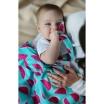 Fotografia, na której jest Kocyk bambusowy dla niemowlaka Watermelon