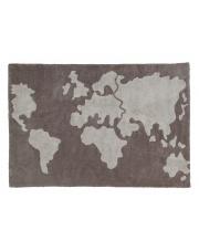 Skandynawski dywan mapa świata Yours World