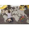 Fotografia, na której jest Skandynawski dywan mapa świata Yours World
