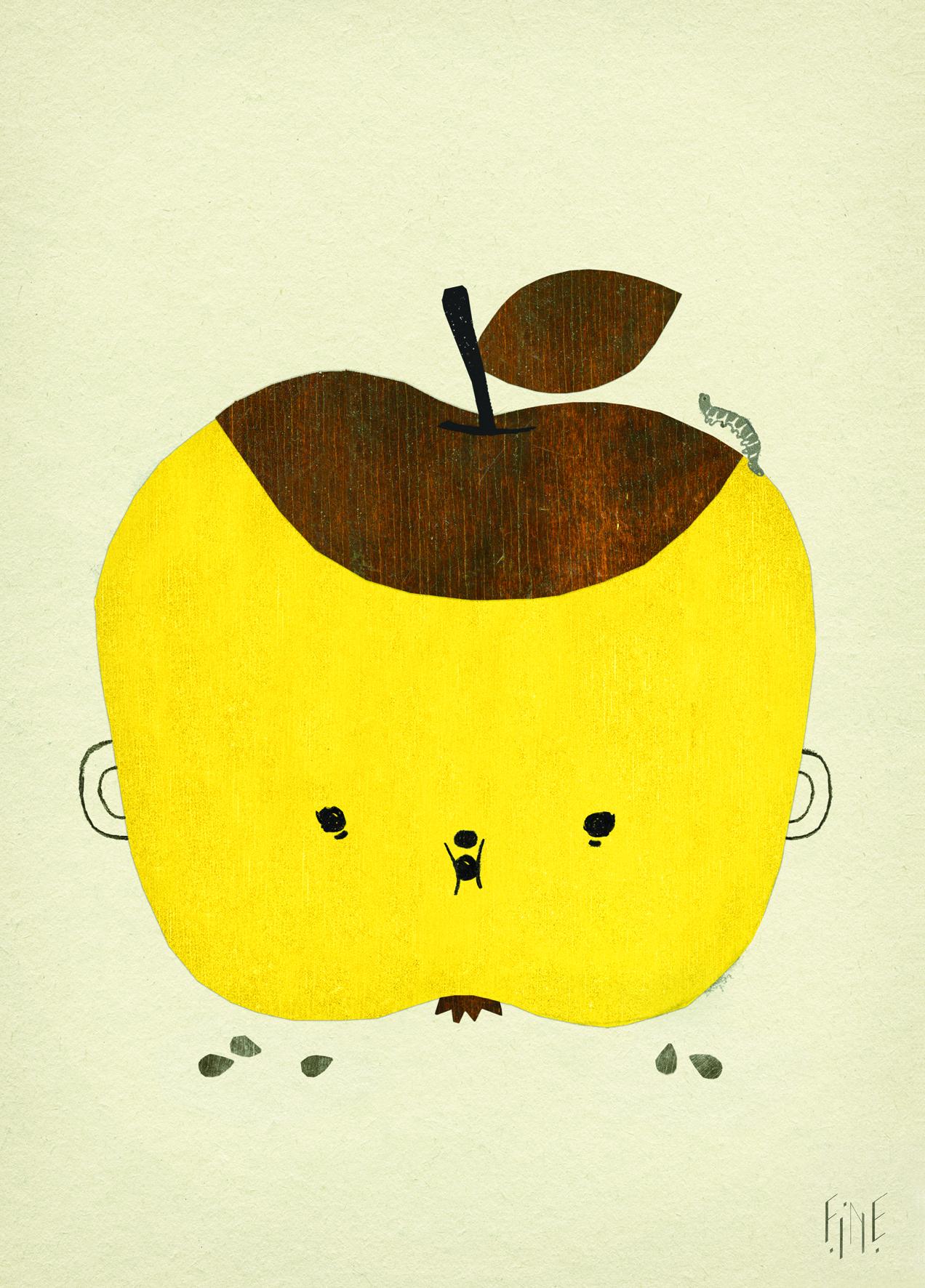 Plakat Skandynawski Dla Dzieci Apple