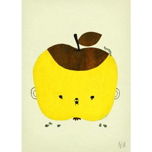 Fotografia, na której jest Plakat skandynawski dla dzieci Apple