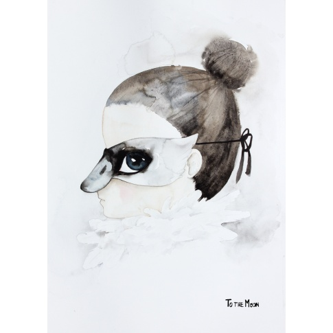 Fotografia, na której jest Plakat Swan - To The Moon