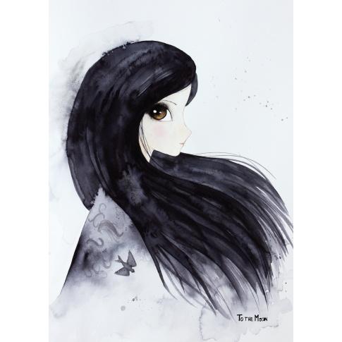 Fotografia, na której jest Plakat Swallow - To The Moon