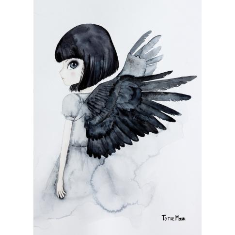 Fotografia, na której jest Plakat Raven - To The Moon