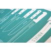 Fotografia, na której jest Plakat NOŻE - TYPES OF KNIVES - PL EN DE - Follygraph