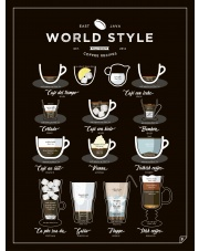 Plakat WORLD STYLE COFFEE - Follygraph