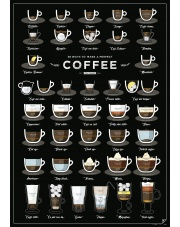 Plakat 38 WAYS TO MAKE A PERFECT COFFEE - A2 - Follygraph