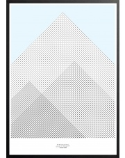 Plakat MOUNTAINS niebieski - 50x70 cm - IHANNA HOME