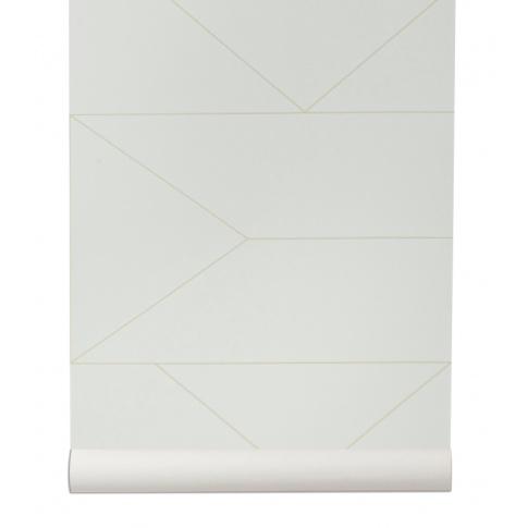 Fotografia, na której jest Tapeta skandynawska LINES off white - ferm LIVING