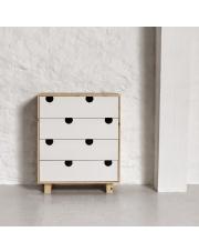 Komoda drewniana HOUSE 4 szuflady - KARUP