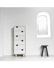 Komoda drewniana HOUSE 6 szuflad - KARUP