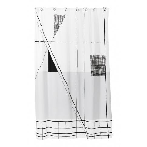 Fotografia, na której jest Zasłona prysznicowa TRACE - ferm LIVING