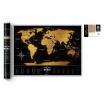 Fotografia, na której jest Mapa Zdrapka - Mapa Świata - Travel Map™ Black World