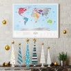 Fotografia, na której jest Mapa Zdrapka - Mapa Świata - Travel Map™ Silver World
