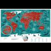 Fotografia, na której jest Mapa Zdrapka - Mapa Świata - Travel Map™ Marine World