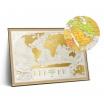 Fotografia, na której jest Mapa Zdrapka - Mapa Świata - Travel Map™ Geography World