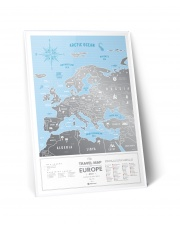 Mapa Zdrapka - Mapa Europy - Travel Map™ Silver Europe