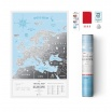 Fotografia, na której jest Mapa Zdrapka - Mapa Europy - Travel Map™ Silver Europe
