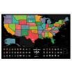 Fotografia, na której jest Mapa Zdrapka - Mapa USA - Travel Map™ USA Black