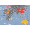 Fotografia, na której jest Mapa Zdrapka - Mapa Świata - Travel Map™ Weekend World