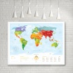 Fotografia, na której jest Mapa Interaktywna - Mapa Świata - Travel Map™ Kids Animals