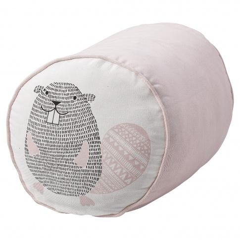 Fotografia, na której jest Skandynawski puf dla dzieci Pink Beaver