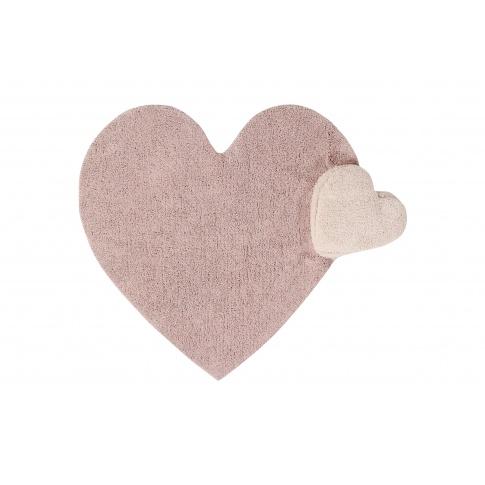 Fotografia, na której jest Dywan dla dzieci serce Fluffy Heart