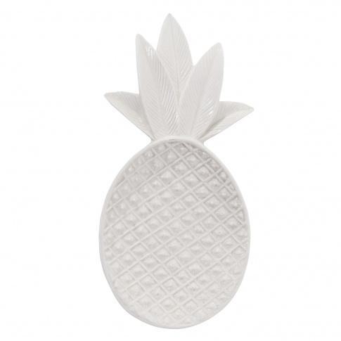 Fotografia, na której jest Tacka ceramiczna uniwersalna White Ananas