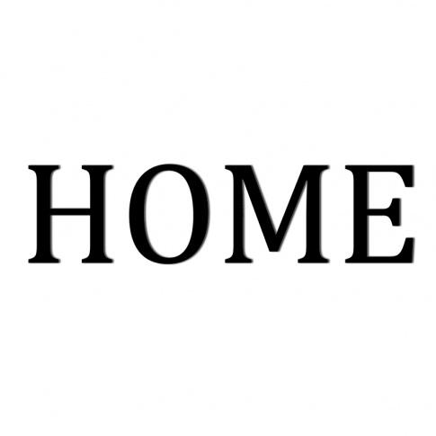 Fotografia, na której jest Napis dekoracyjny na ścianę HOME - 1 - DekoSign